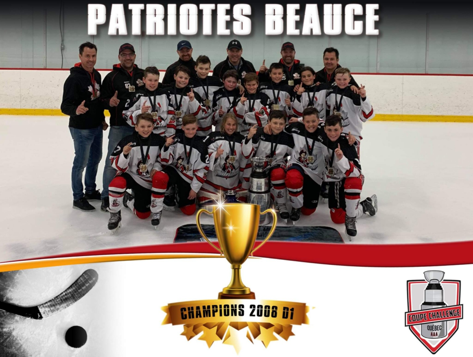 Les Patriotes de Beauce-Appalaches remportent coupe Challenge AAA Québec